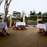 outside dining at the Jetty Restaurant