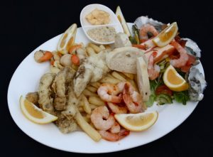 seafood platter at Jetty Restaurant
