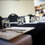 table up close at Jetty Restaurant
